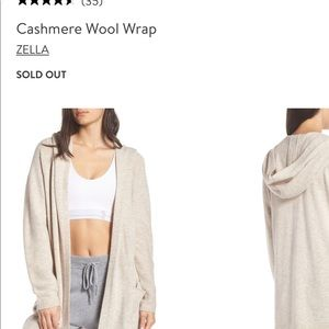 Cashmere Wool Blend Hooded Cardigan